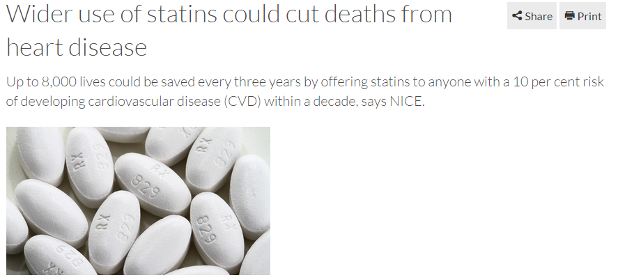 Wider use of statins could cut deaths