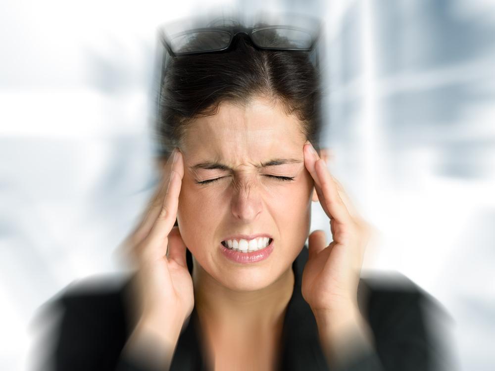 photo of migraine sufferer
