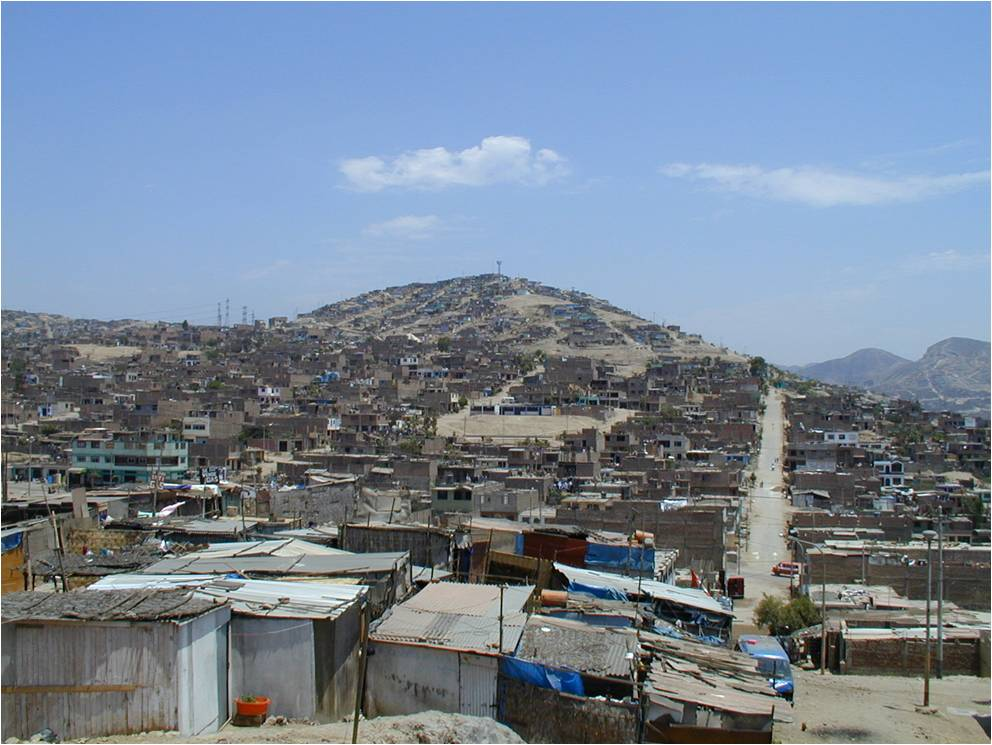 cono sur shanty town in Peru with high incidence of TB