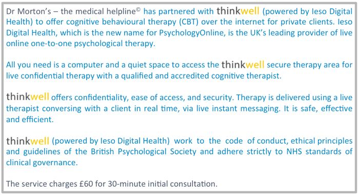 thinkwell CBT service Dr Morton's referral