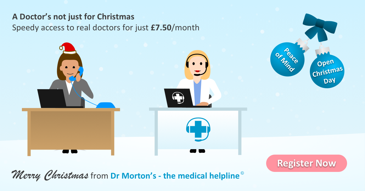 Dr Morton's - the medical helpline. Merry Christmas!